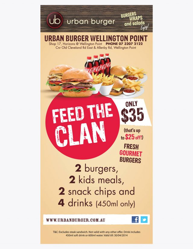 Urban Burger Family Flyer